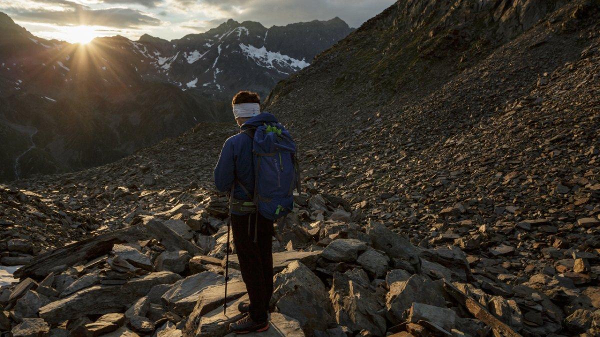 The Stubai High Trail leads through high alpine terrain