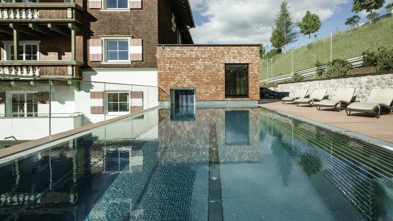 Outdoor pool at the Hotel Schwarzer Adler