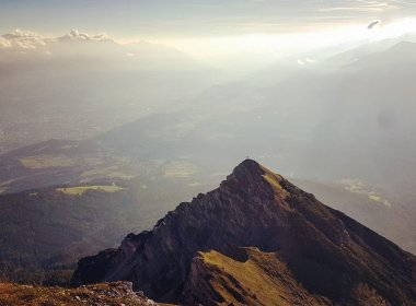 Stunning views from the top of Nockspitze Spire. Photo by Anja Schauz.