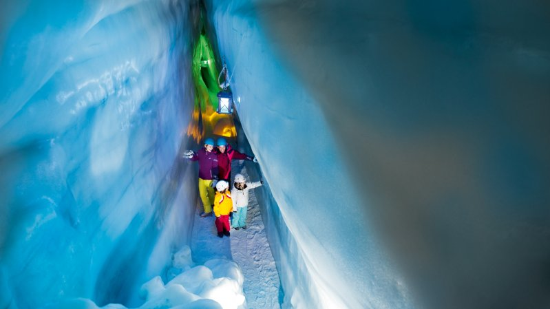 The Blue Chamber inside the Natural Ice Palace at Hintertux Glacier, © Archiv TVB Tux-Finkenberg