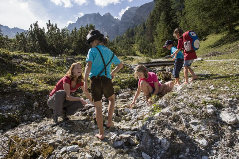 Go on hikes that have a worthy reward at the end, or at half way along. (Photo Credit: Maren Krings, Tirol Werbung)