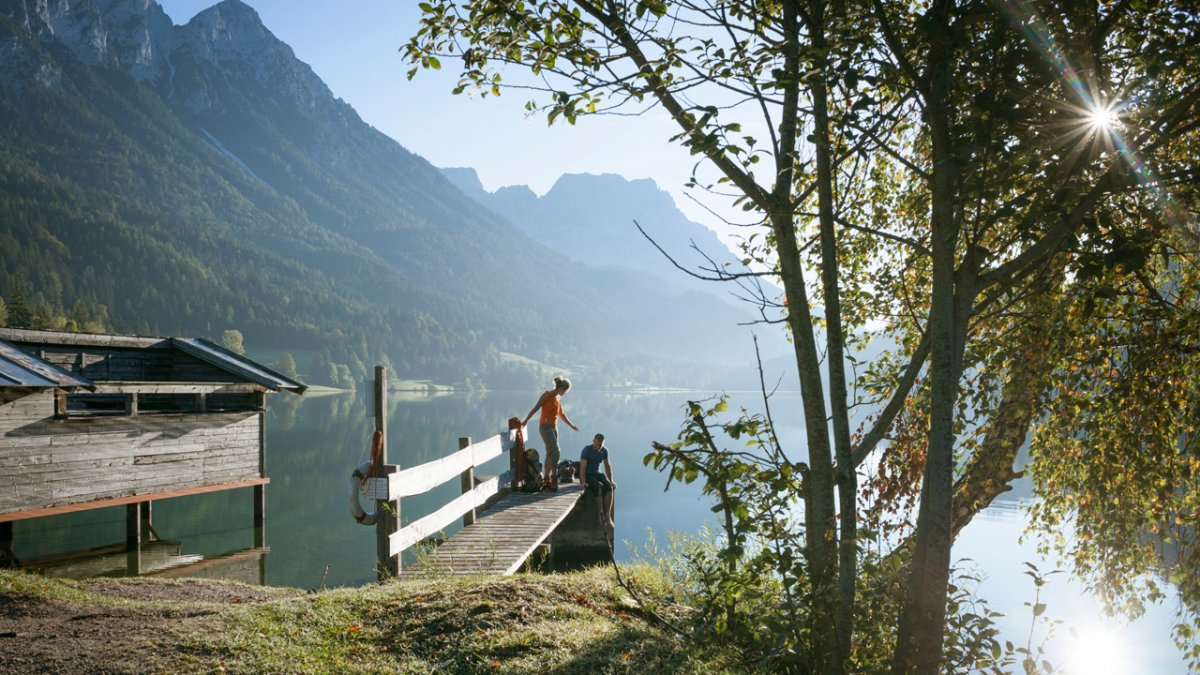 Hintersteiner See lake on the Eagle Walk, © Tirol Werbung