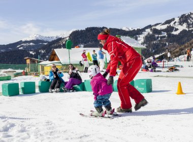 The Learn-To-Ski Zone at Serfaus
