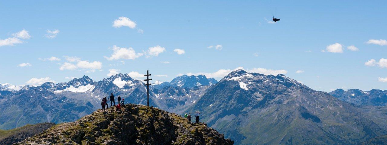 View from the Wetterkreuzkogel in the Ötztal Valley, © Ötztal Tourismus/Matthias Burtscher