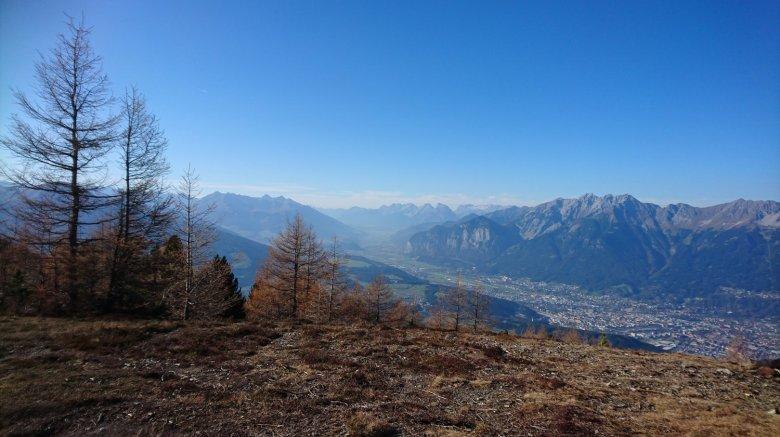 The Zirbenweg trail high above Innsbruck.