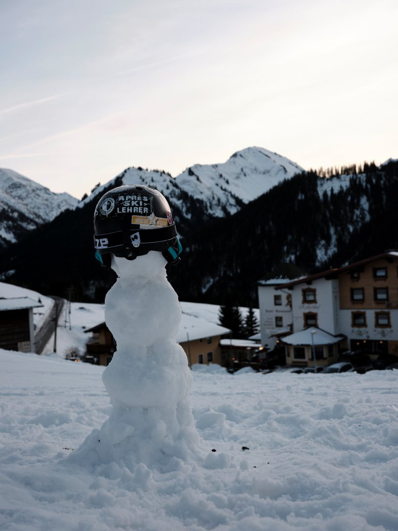 """Snowmen date back hundreds of years. Some of those found in Tirol today appear to have adopted a """"safety first"""" approach to life in the mountains."""