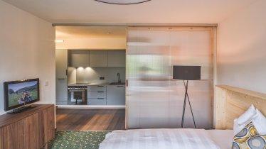 Schlafzimmer und Küche