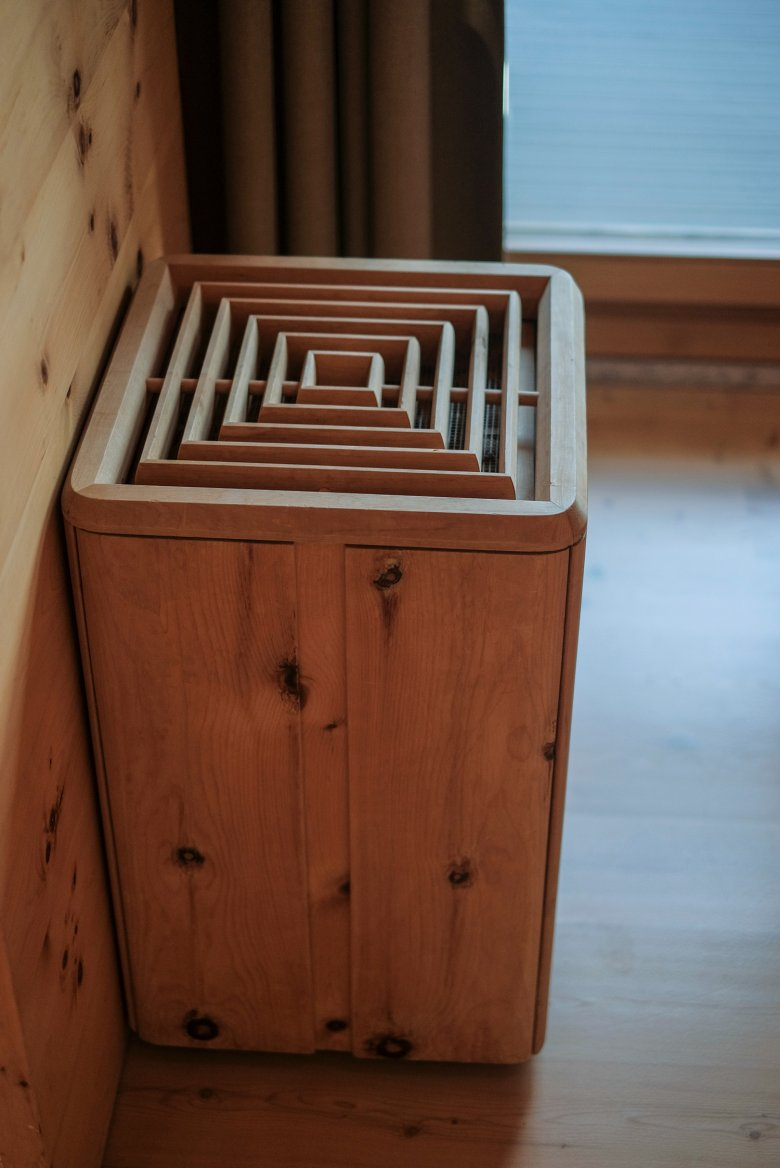 Wood is used for everything from radiator covers to waste paper bins.