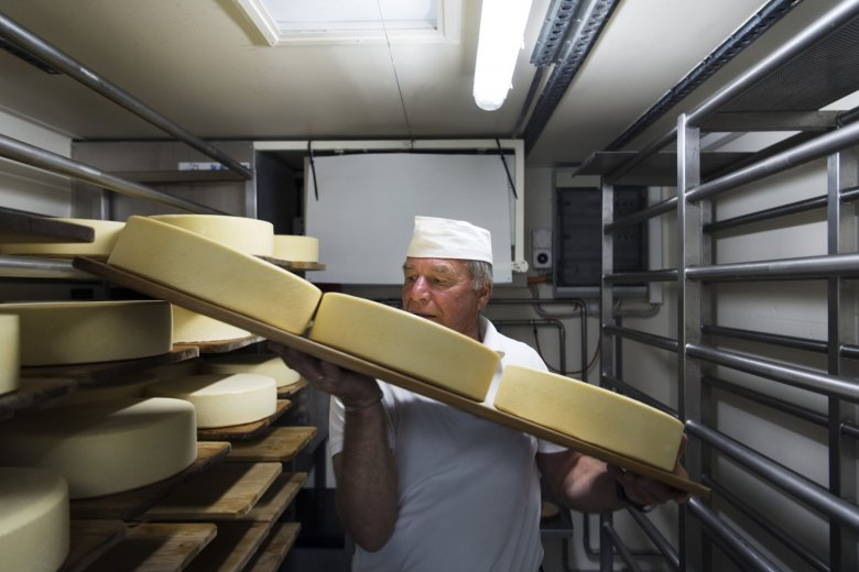 Finest artisan cheese is handcrafted on premises. Photo Credit: Tirol Werbung.