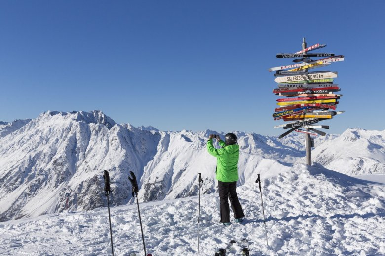 Up at Pardatschgrat, we were greeted with fresh powder and breathtaking views.