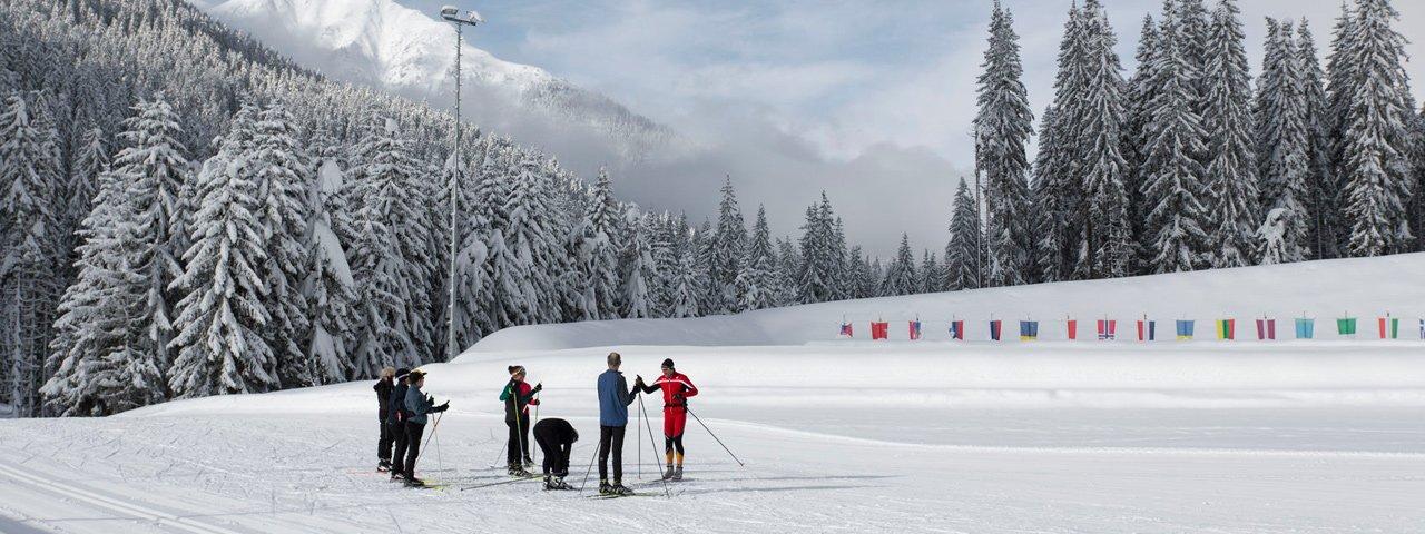 Biathlon facilities in Obertilliach, © Tirol Werbung/Bert Heinzlmeier