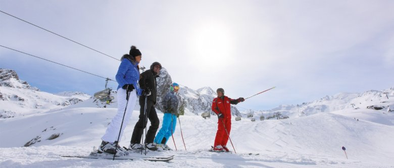Ski instructors will whisk you away on a private, guided tour at many ski resorts. (Photo Credit: Ötztal Tourismus)