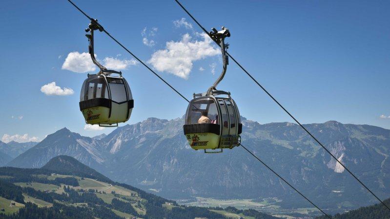 Wiedersbergerhornbahn cable car in Alpbach, © Grießenböck