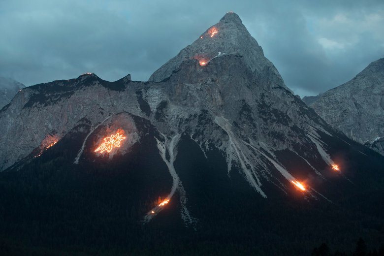 Summer solstice fires in Tirol
