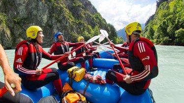 Rafting in the Imster Schlucht canyon, © Tirol Werbung/Peter Neusser