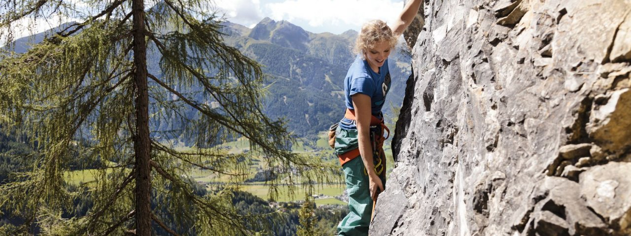 The Falkenstein climbing area near Matrei in East Tirol, © Tirol Werbung/Robert Pupeter