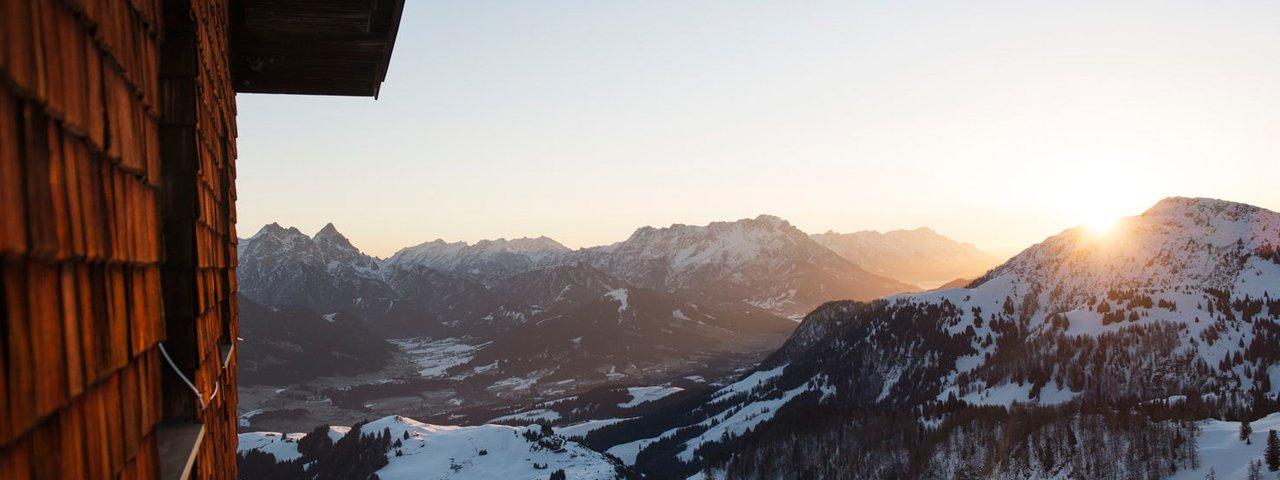 The sun sets over the Kitzbühel Alps, © Tirol Werbung/Frank Bauer