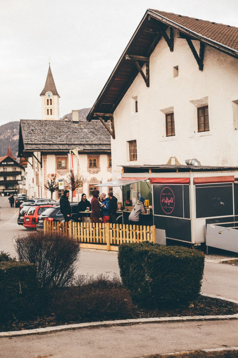 """The """"Hüftgold"""" Food Truck in Ladis."""