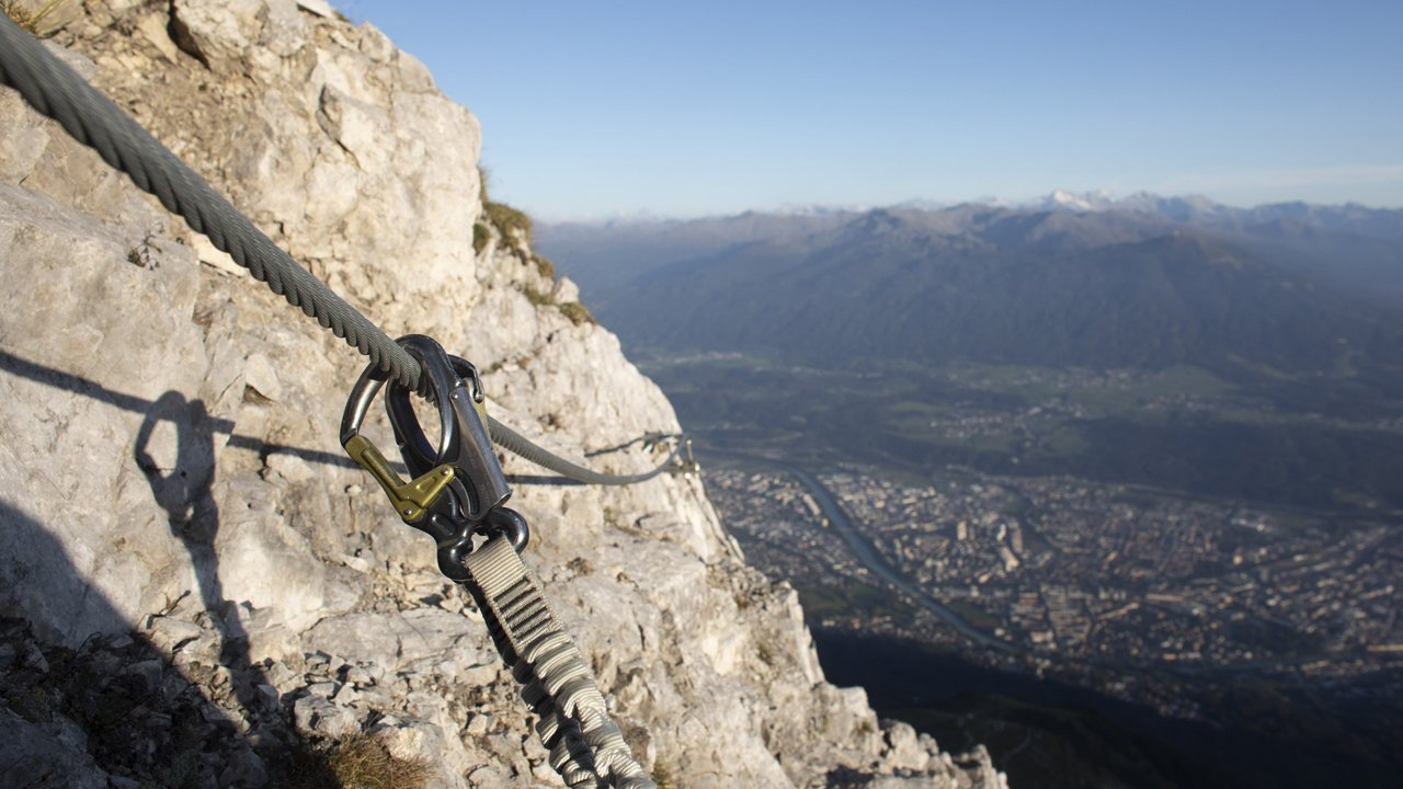The Innsbruck via ferrata, © Tirol Werbung / Frank Stolle