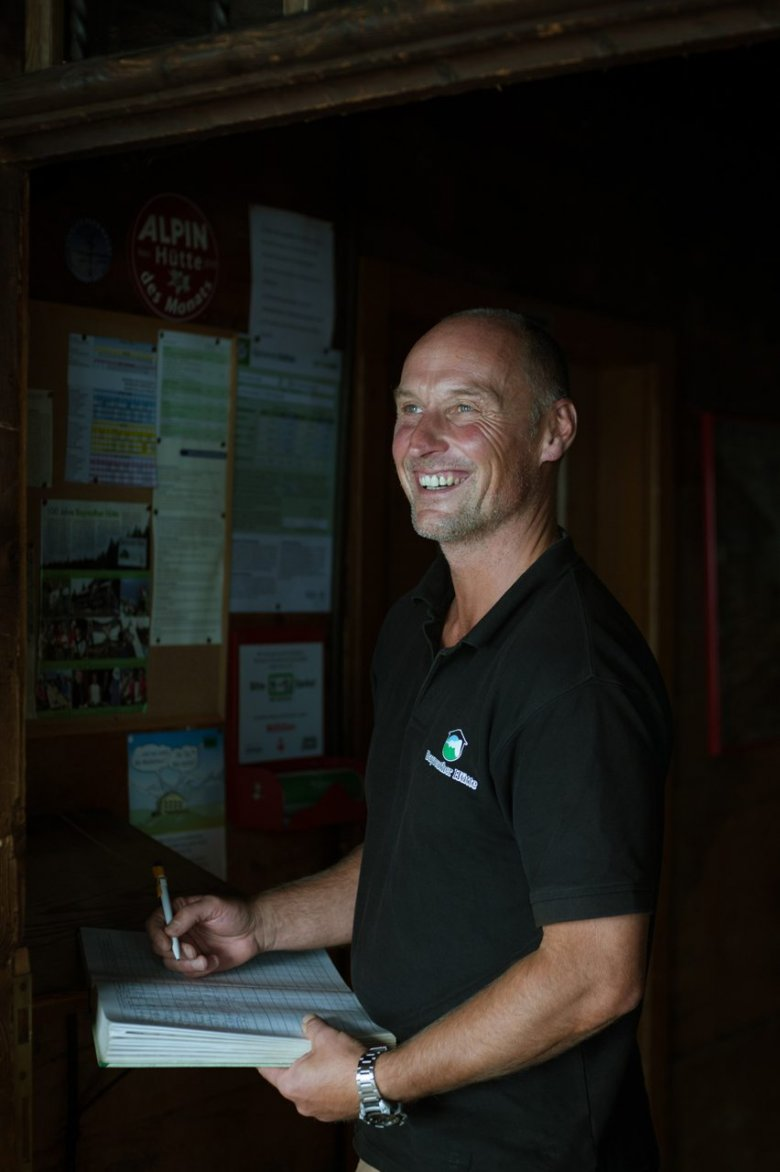 Bright eyes, good humour and generosity: Looking out of the window is reason enough for all the hard work that is involved in running Bayreuther Hut for hut keeper Anton.