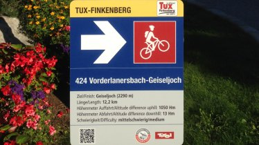Mountain Bike Trail Signage, © Tirol Werbung