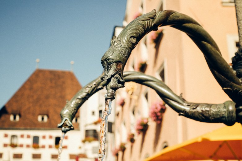 The Fountain on Upper Town Square