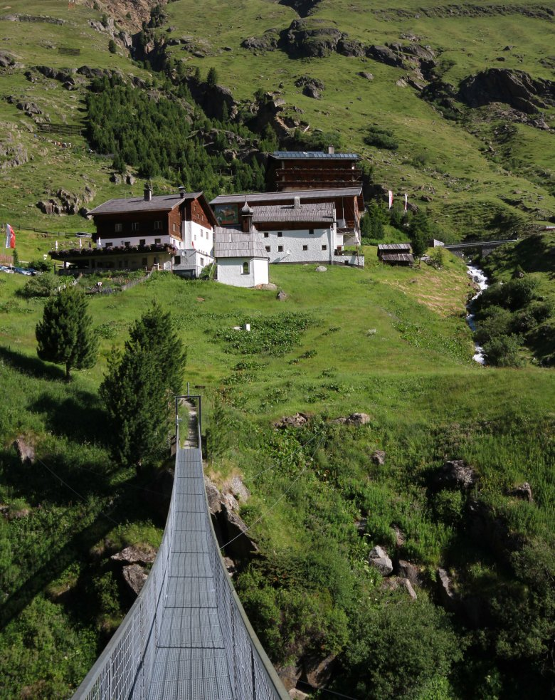 The Rofenhöfe buildings near Vent form the highest farmstead in Tirol occuped all year round. , © Tirol Werbung, Bernhard Aichner