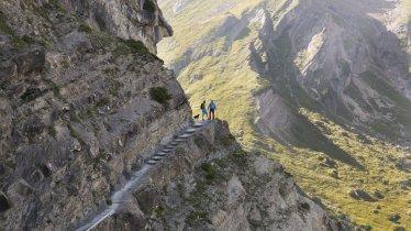 The Drischlsteig trail from the Alpjoch to the Muttekopfhütte