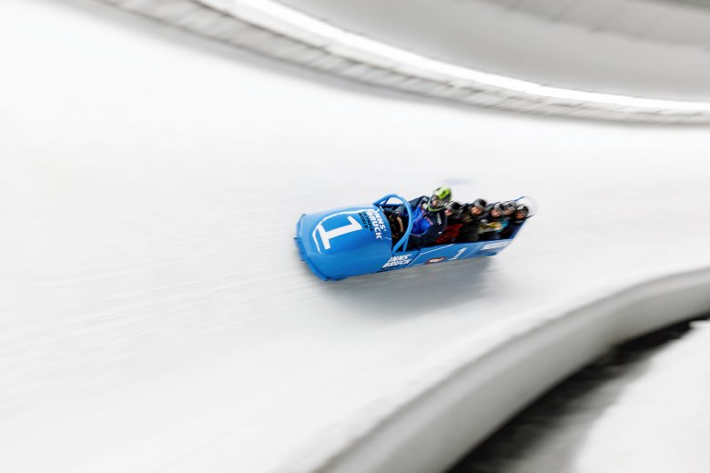 Visitors to Igls can experience what it is like to ride a bobsleigh. Photo: Thomas Steinlechner