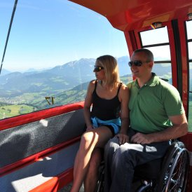 Barriere-free cable cars in summer, © SkiWelt Wilder Kaiser- Brixental