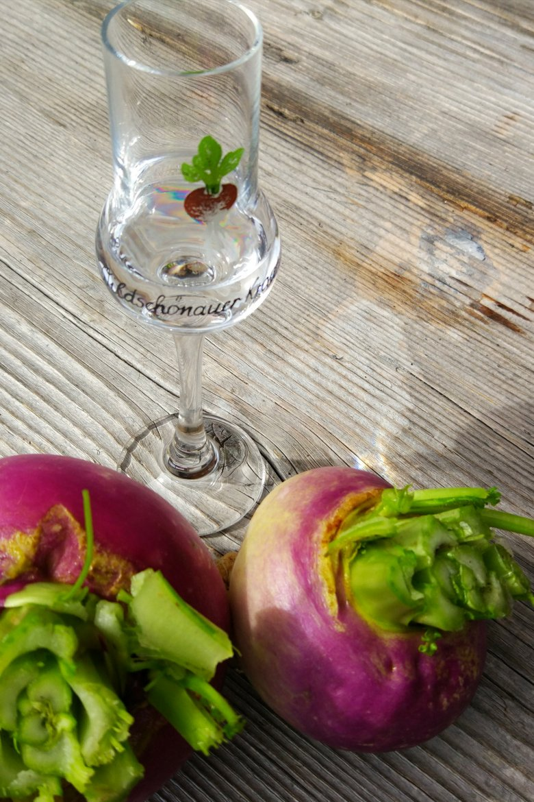 A must-try if you are in Wildschönau: Krautinger Schnapps, distilled from locally grown White Beet called Krautinger (also known as May turnip or autumn turnip).