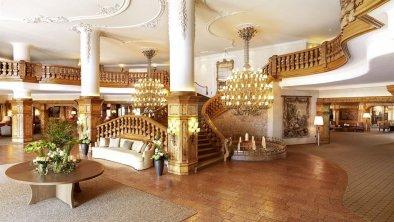 Die Hotelhalle im Interalpen-Hotel Tyrol, © Interalpen-Hotel Tyrol