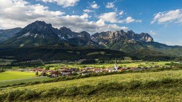 View from Ellmau looking towards the Wilder Kaiser Mountains, © Daniel Reiter & Peter von Felbert