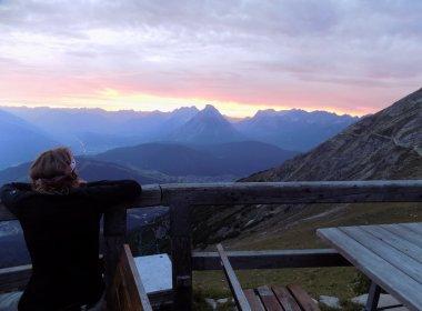 Sunset from Nordlinger Hütte