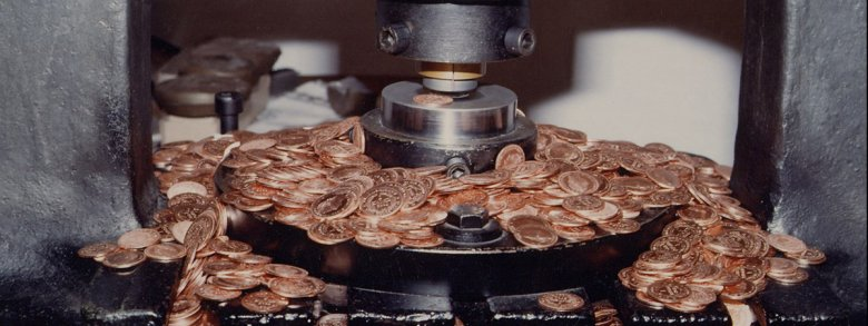 Coin Minting at the 15th century Mint Tower, the Landmark of Hall, © Region Hall-Wattens