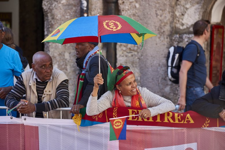 These fans were here for Eritrea.