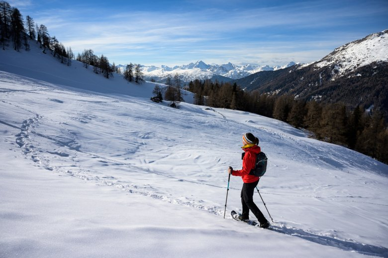 Snowshoeing in Schmirntal Valley is a wonderful way to explore the unspoiled backcountry.