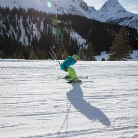 Amelie Orgris likes skiing fast and straight, © Tirol Werbung/Lisa Hörterer