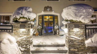 Haus Winter Nacht Eingang