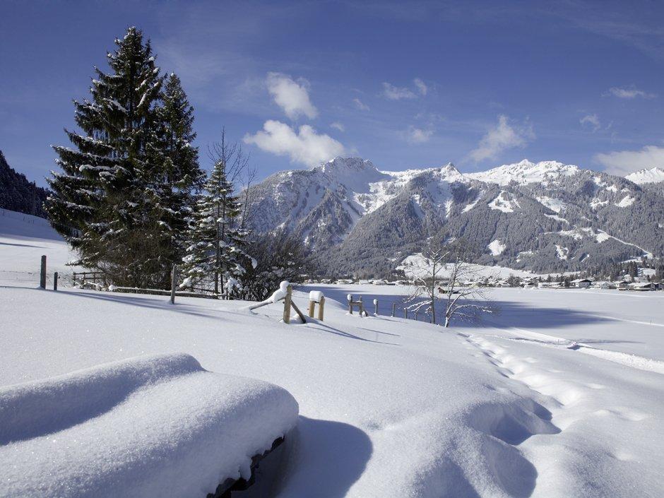 Winter in the region around the Reutte Nature Park, © Naturparkregion Reutte