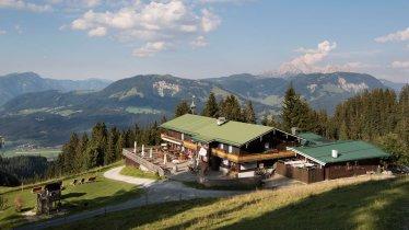 The Angerer Alm hut near St. Johann in Tirol