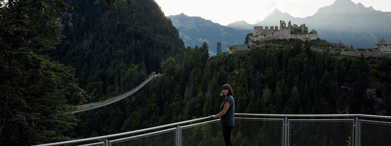 Ehrenberg Fortress and the Highline 179 near Reutte, © Tirol Werbung / Lisa Hörterer