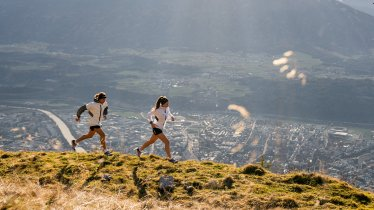 High above Inntal Valley: The Innsbruck Alpine Trail Run is enveloped by majestic mountain beauty