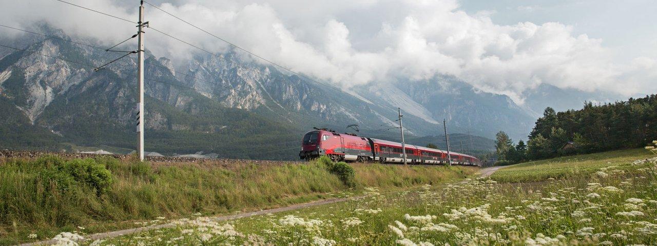 ÖBB Railjet, © Tirol Werbung/Regina Recht