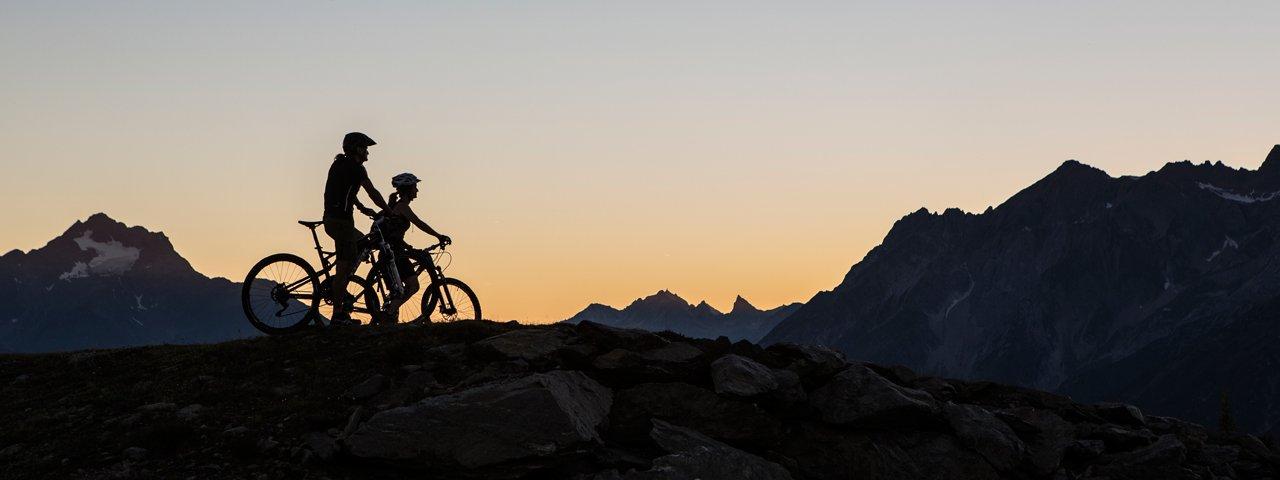 Riding the Bike Everest Tirol above the village of Fliess, © Daniel Zangerl
