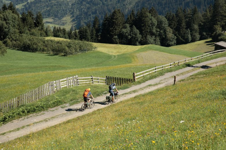 Summer dreaming above the village of Wenns in the Pitztal Valley.