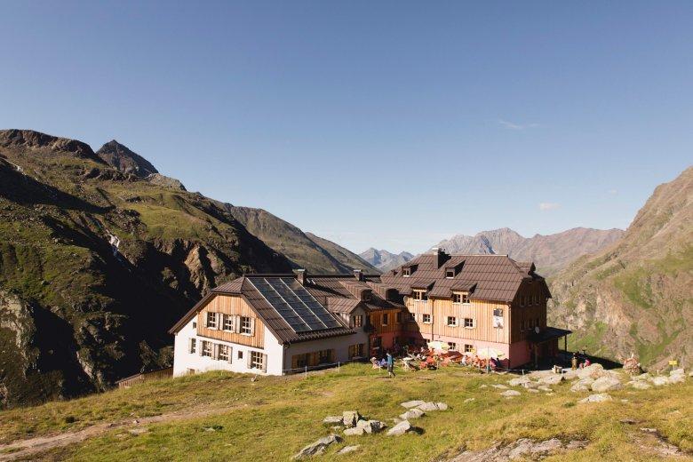 The Taschachhaus refuge in the Ötztal Alps.