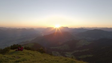 Sunrise from the top of the Gratlspitze mountain, © Alpbachtal Seenland Tourismus / Sedlak Matthias