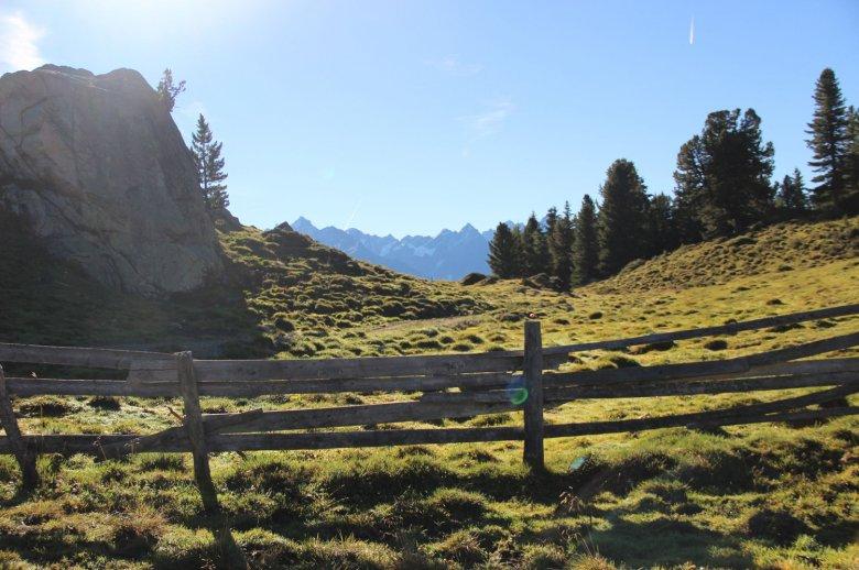 Landscape near the Aifner Alm hut.