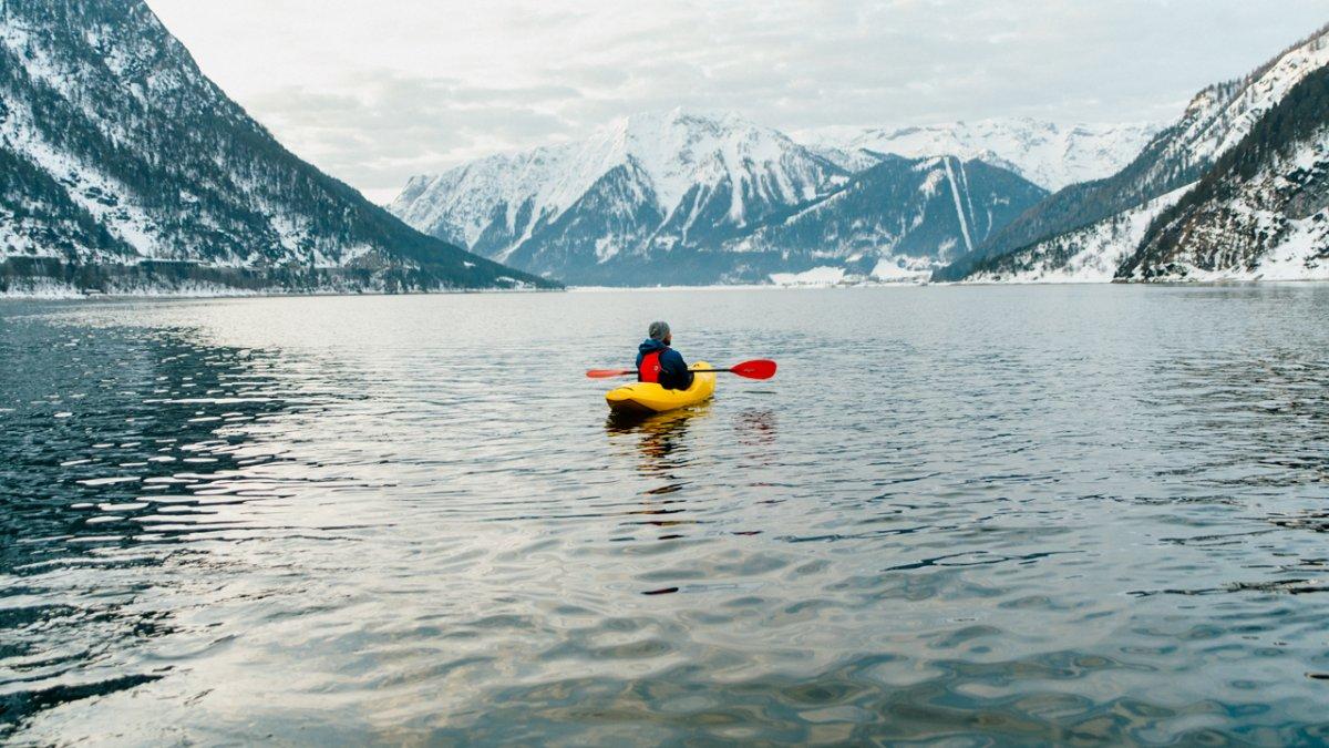 Kayak on Lake Achensee, © Ramon Haindl